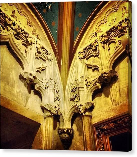 Medieval Art Canvas Print - Gothic Gargoyles by Natasha Marco