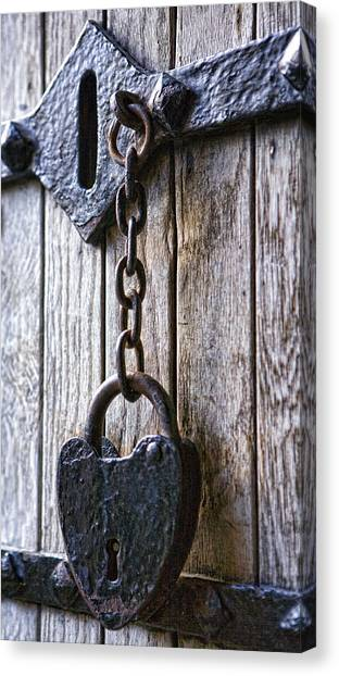 Gothic Lock Canvas Print by Wendy White
