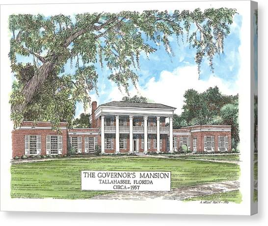 Governors Mansion Tallahassee Florida Canvas Print