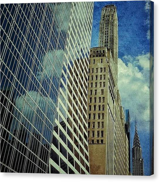 Skyscrapers Canvas Print - Grace / Salmon / 500 Fifth Ave & by Joel Lopez