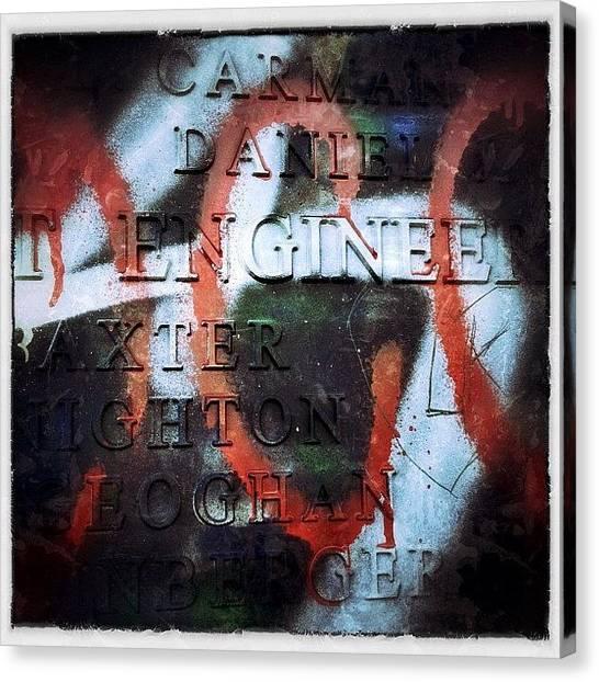 Graffiti Canvas Print - Graffiti & Typography by Natasha Marco