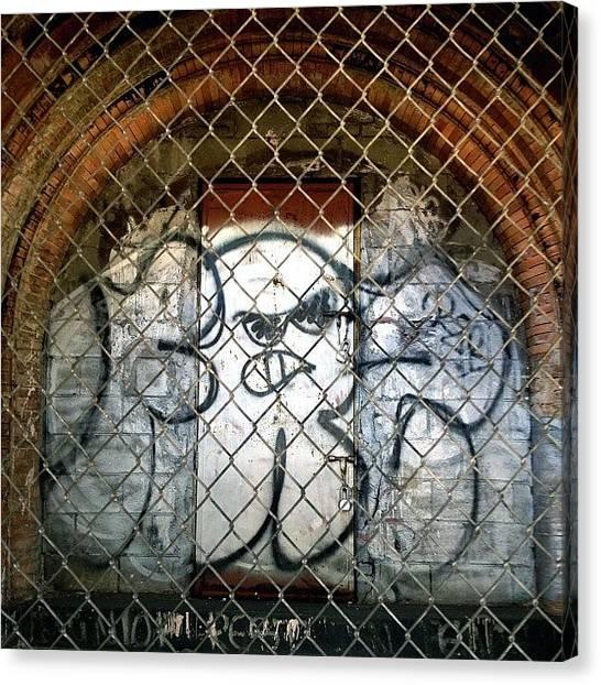 Graffiti Canvas Print - Graffiti Ghost by Natasha Marco