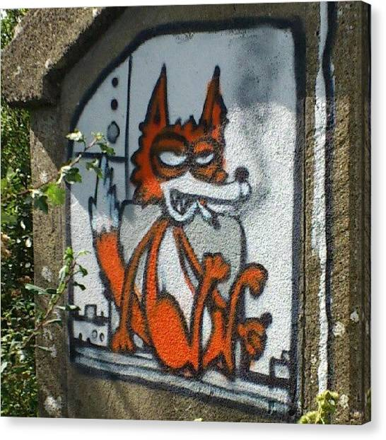 Foxes Canvas Print - #graffiti #graffitiofinstagram by Robin Beer