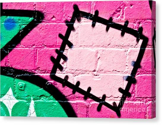 Graffiti Patch Closeup Canvas Print