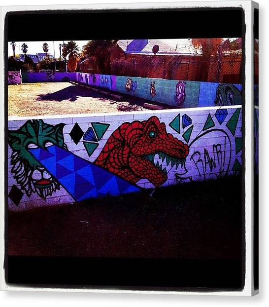Dinosaurs Canvas Print - #graffiti #streetart #arizona by CactusPete AZ