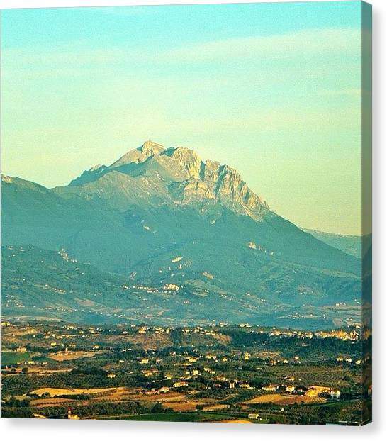 Still Life Canvas Print - Gran Sasso Sunrise by Chi ha paura del buio NextSolarStorm Project