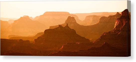 Grand Canyon At Dusk Canvas Print by C Thomas Willard