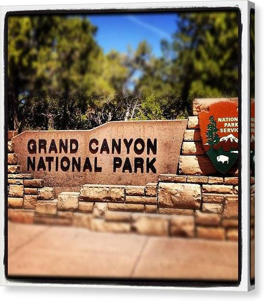 Wilderness Canvas Print - Grand Canyon Sign by Isabel Poulin