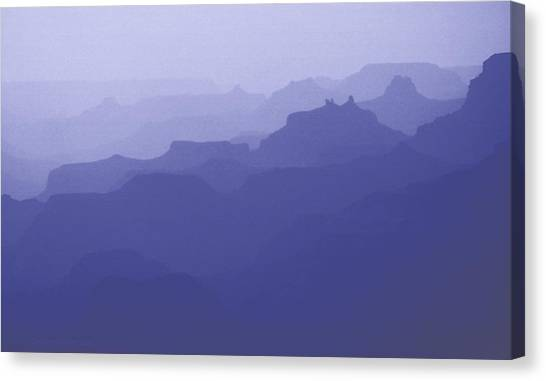 Grand Canyon Silhouettes Canvas Print