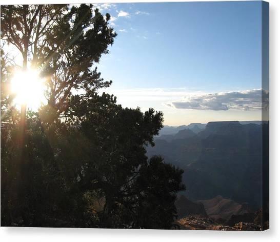 Grand Canyon Sun Canvas Print