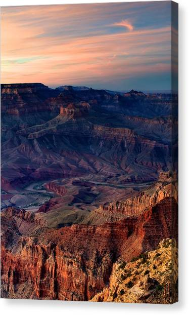 Grand Canyon Sunset Canvas Print by C Thomas Willard