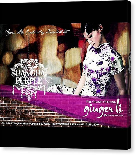 Lounge Canvas Print - Grand Opening Ginger Li - June 29th! by Marsha Hasjim