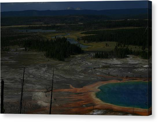 Grand Prismatic Spring Yellowstone National Park Canvas Print