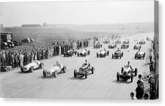Grand Prix Start Canvas Print by Central Press