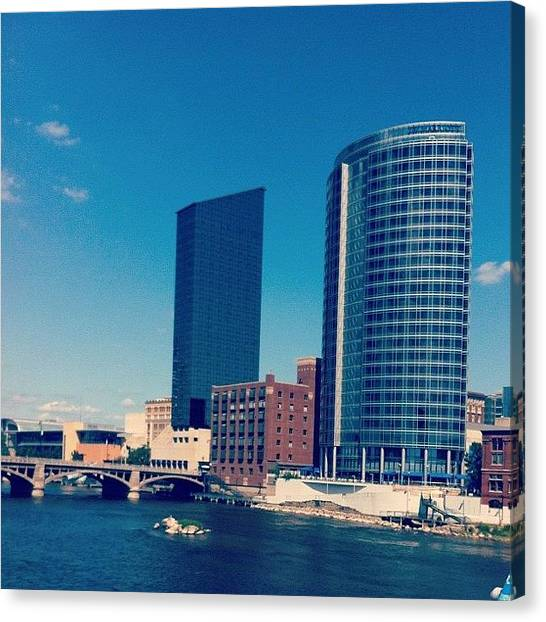 Lake Michigan Canvas Print - Grand Rapids by Sara Lovelace