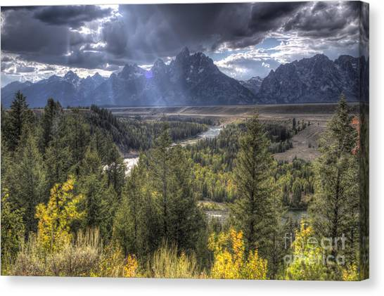Wy Canvas Print - Grand Teton National Park And Snake River by Dustin K Ryan