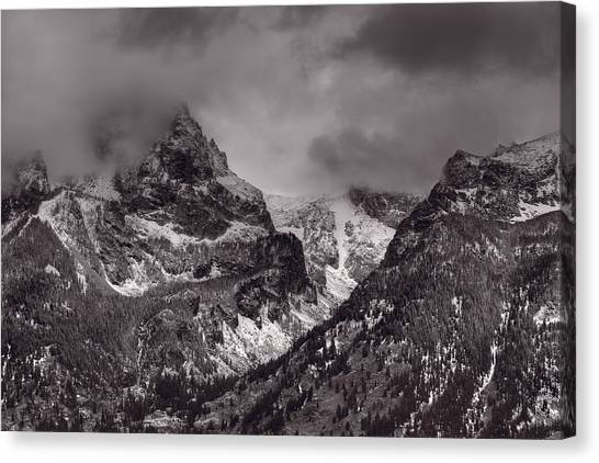 Teton Canvas Print - Grand Tetons by Steve Gadomski