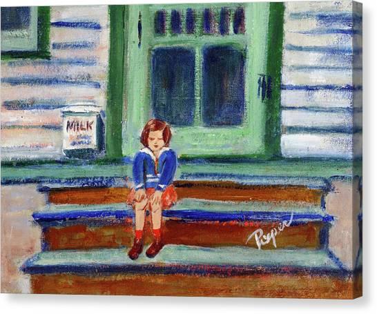 Grandma's Door Steps Canvas Print