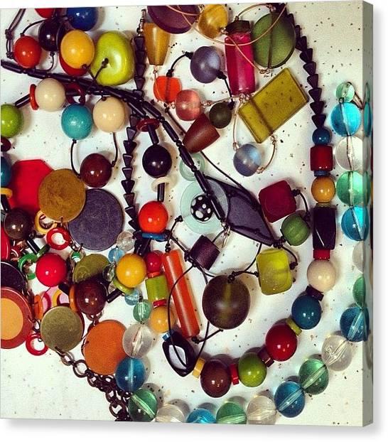 Grandma Canvas Print - Grandma's Jewels #grandma #fashion by Nichole Zellmer