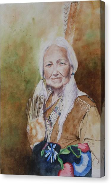 Grandmother Many Horses Canvas Print