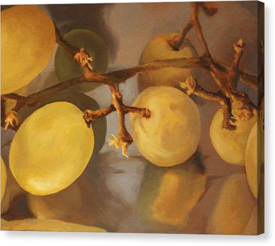 Grapes On Foil Canvas Print