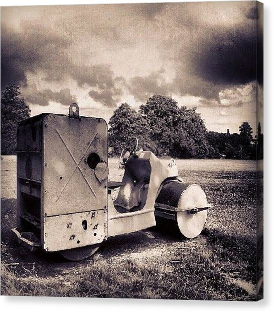 Machinery Canvas Print - Grass Roller by Dave R