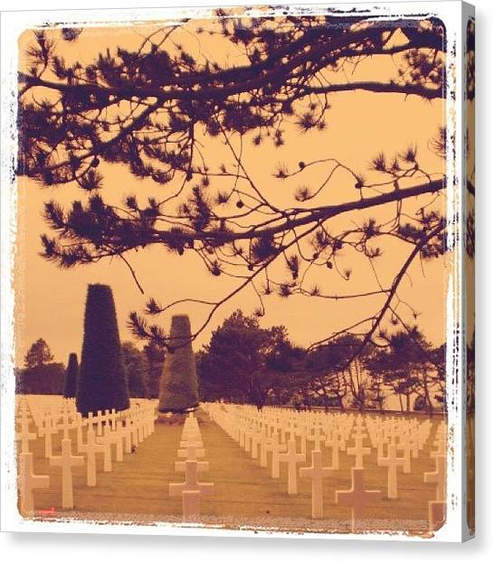 War Canvas Print - #grave #graveyard #tombstone #normandy by CactusPete AZ