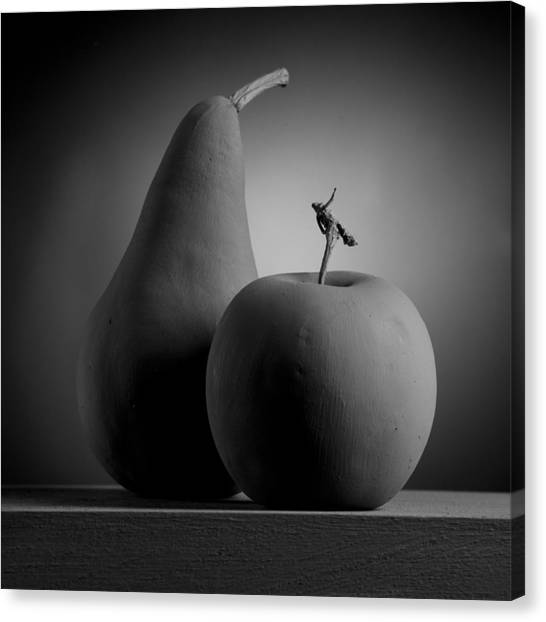Gray Variations - Apples Canvas Print by Ovidiu Bastea