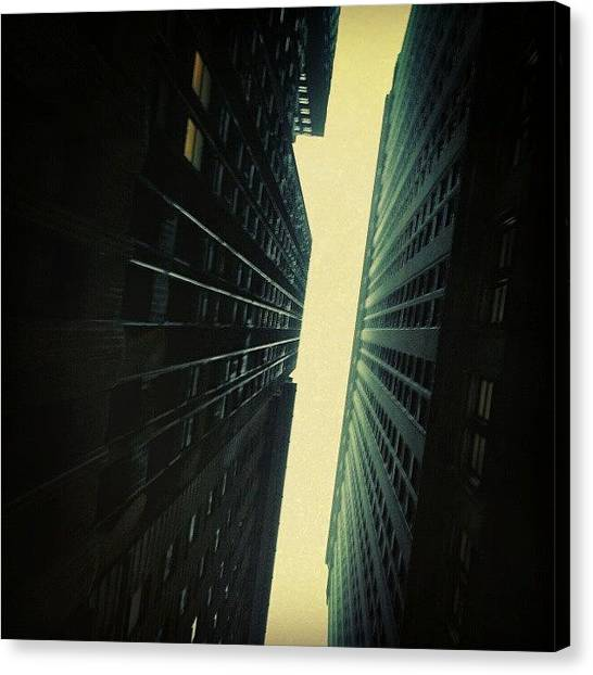 Om Canvas Print - Great Architecture... #newyork by Om Bhatia
