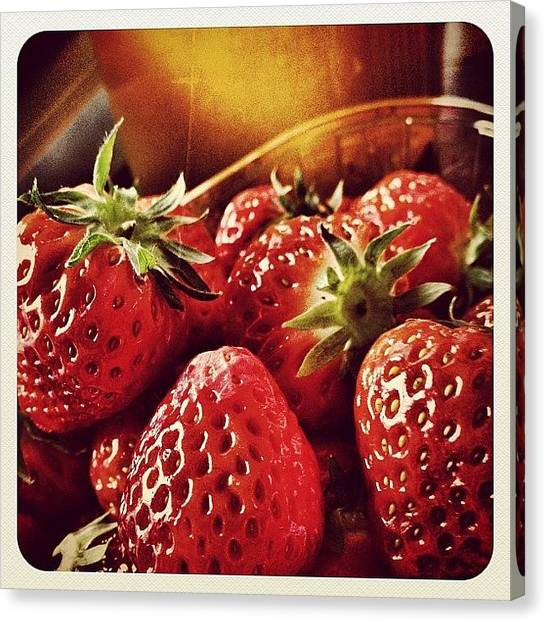 Strawberries Canvas Print - Great #mothersday Lunch by Wilbert Claessens