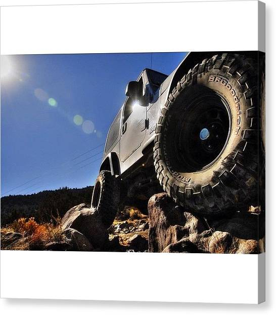 Offroading Canvas Print - Great Photo @rubicontaxi #jeep by James Crawshaw