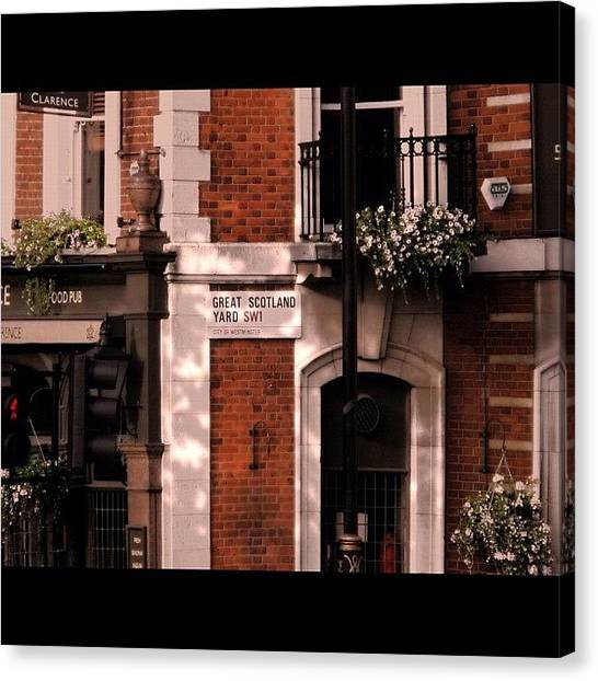 Pub Canvas Print - Great Scotland Yard by Avril O