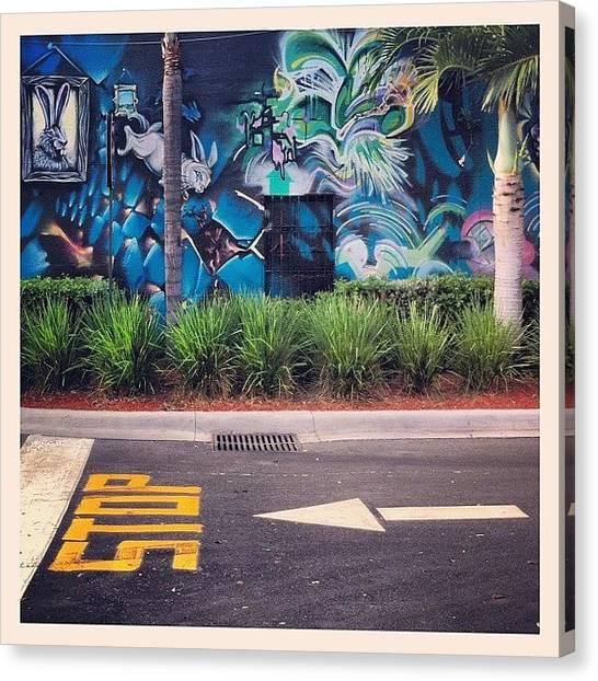 Rabbits Canvas Print - Great Wall, Fort Lauderdale #graffiti by Sebastiaan Van der Graaf