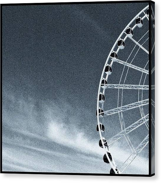 Seattle Canvas Print - Great Wheel by T Catonpremise