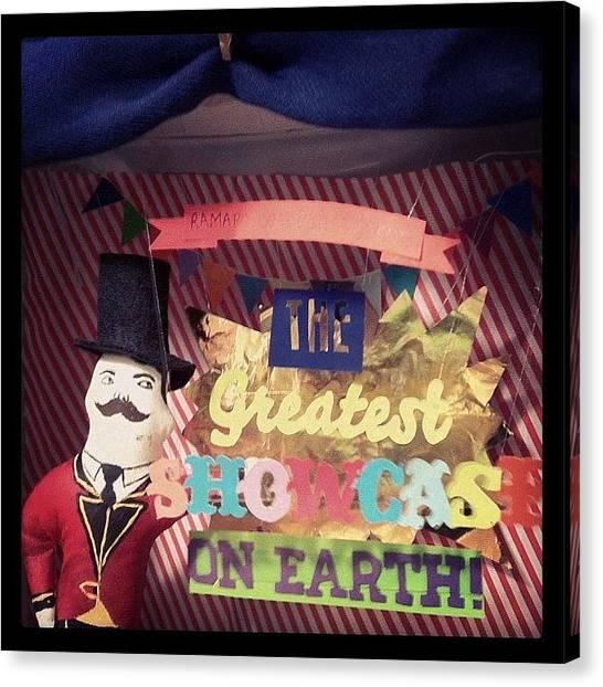Jerseys Canvas Print - Greatest Showcase On Earth by Kristenelle Coronado