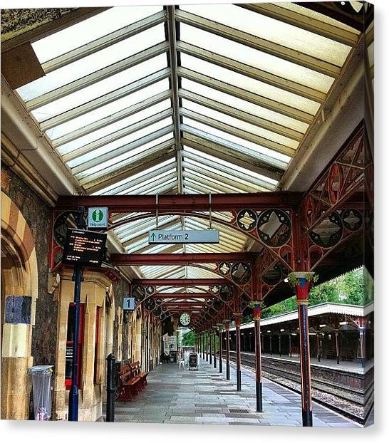 Victorian Canvas Print - #greatmalvern #station #trainstation by Boo Mason