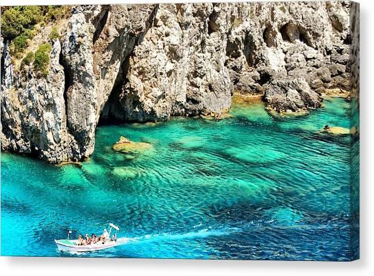 Greece Corfu Island Canvas Print by Meeli Sonn