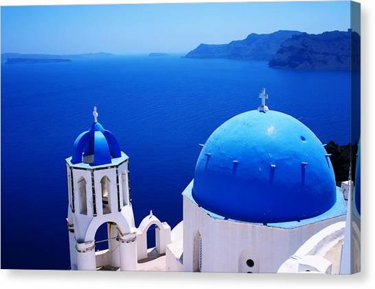 Greek Blue Canvas Print