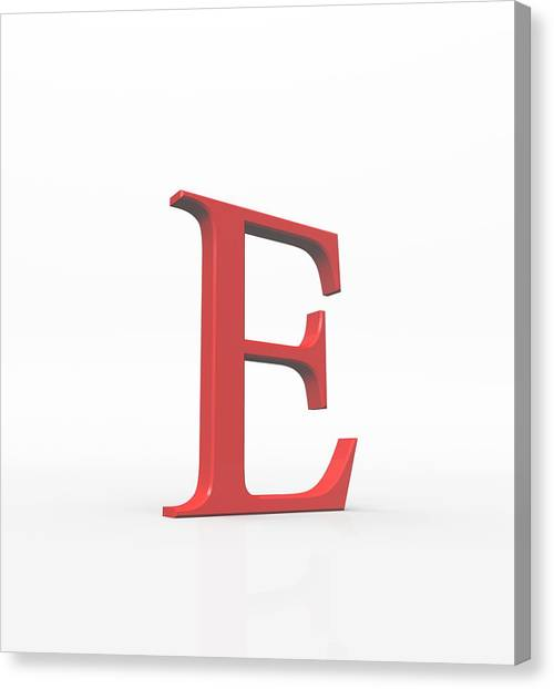 Greek Letter Epsilon, Upper Case Canvas Print by David Parker