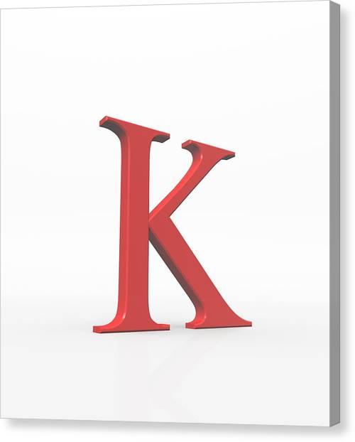 Greek Letter Kappa, Upper Case Canvas Print by David Parker
