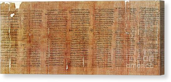 Aspect Canvas Print - Greek Papyrus Horoscope by Science Source