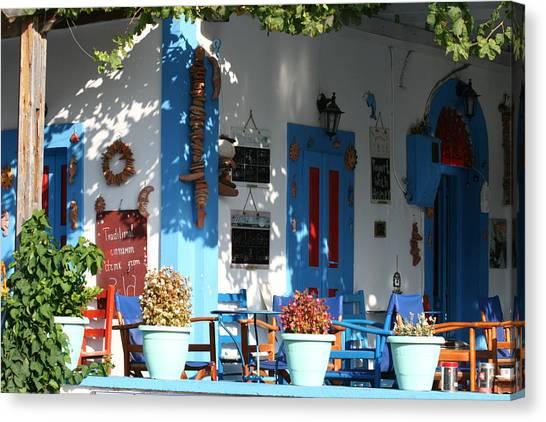 Greek Tavern  Canvas Print