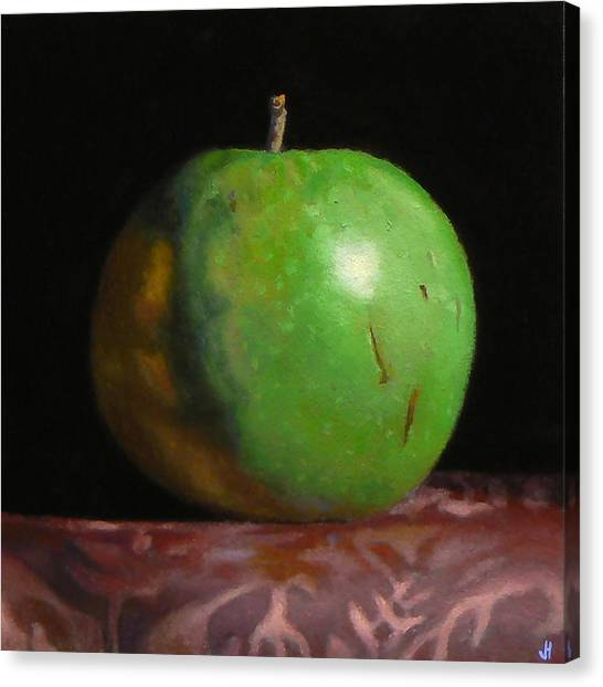 Green Apple Number 4 Canvas Print by Jeffrey Hayes