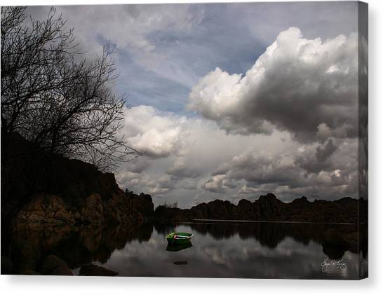 Green Dingy In The Dells Canvas Print