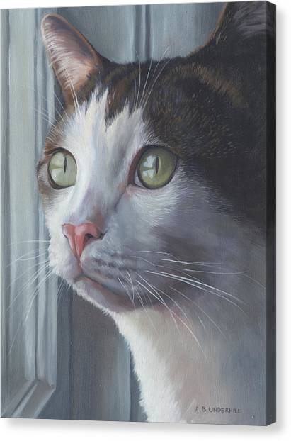 Green Eyed Cat Canvas Print