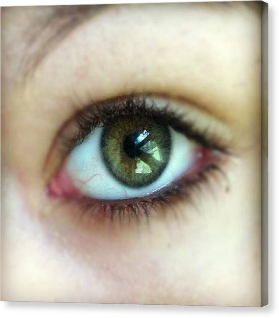 Teenager Canvas Print - Green Eyes Tell No Lies. ;) by Kaity Craven