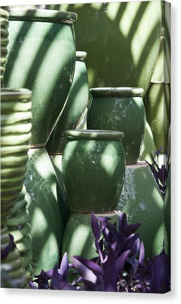 Ceramic Glazes Canvas Print - Green Grouping 3 by Teresa Mucha