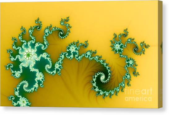 Green In The Yellow Canvas Print by Odon Czintos