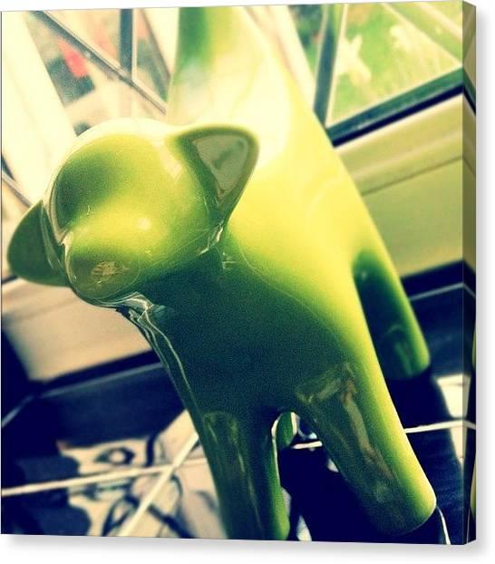 Bananas Canvas Print - Green Lambanana #newhouse by Barrie Gregson