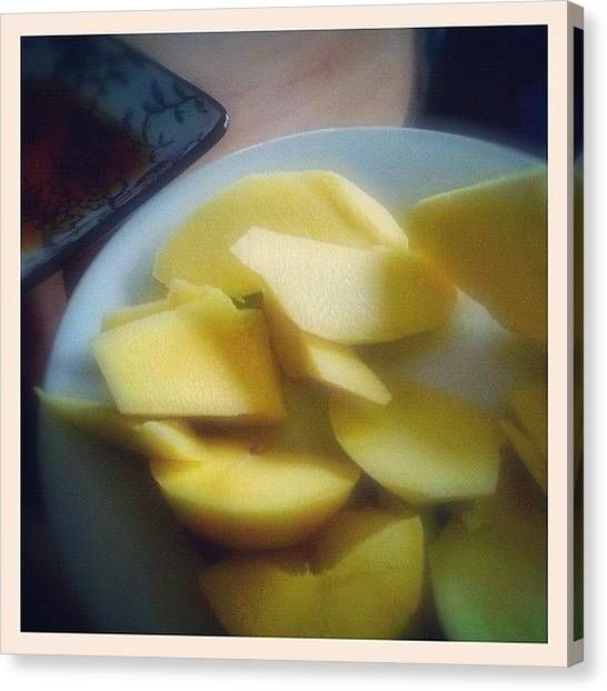 Mangos Canvas Print - Green Mango #mango #green #fish by Luke Fuda